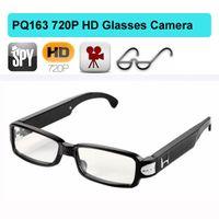 Wholesale Hd Spy Glass - 1280*720P HD Glasses Camera video spy eyewear glass mini DV dvr camera 1280*720P sunglasses hidden camera recorder camcorder PQ163