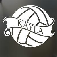 ko großhandel-Volleyball Aufkleber Custom Name Aufkleber Autofenster Aufkleber