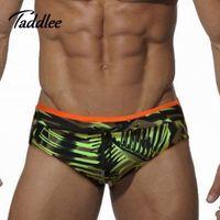 Wholesale Enhancing Pouch Mens Briefs - Europe Big Size Sexy Men Swimwear Brand Mens Swimsuits Swimming Briefs Gay Penis Pouch WJ Inside Pad Enhance Front Swim Bikini
