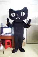 Wholesale Cat Mascot Head Costumes - Hot New Big head black cat Mascot Costume ALL SIZE:!! Freee shipping