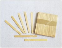 Wholesale Wooden Popsicle Sticks - 114x10x2mm Wooden Natural Color Popsicle Lollipop Ice-cream Stick for Kids DIY crafts - 500pcs lot free shipping LA0247 wholesale