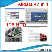 Wholesale Truck Code Readers - 2017 47in1 alldata and mitchell software alldata 10.53+mitchell on demand 2014+ATSG+ETKA+vivid+ELSA+med& heavy truck 1tb hdd DHL Free