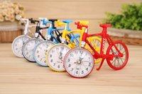 Wholesale Digital Table Design - 2016 new Bicycle Design Alarm Clock 200*140*78mm Table Desk Bike Clock Home Decoration Desk & Table Clocks free shipping