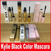 Wholesale Full Thick - Kylie Jenner Mascara Magic thick slim waterproof mascara Black Eye Mascara Long Eyelash Charming Gold Birthday holiday i want it all Package