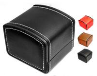 almohadas de cuero genuino al por mayor-Nueva caja de reloj de lujo caja de reloj de cuero genuino con reloj almohada Embalaje compatible con joyero Pandora