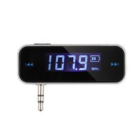 Wholesale Mp3 Tracks - New Mini Wireless Transmitter 3.5mm In-car Music Audio FM Transmitter For iPod Mobile for iPhone Electronic Car MP3 Player order<$18no track