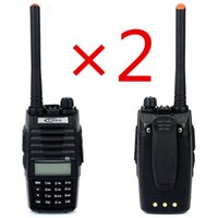 Al por mayor-2pcs / lot 10W TONFA Radio Walkie Talkie portable TF-Q5 VHF + UHF 136-174 + 400-480MHz 256CH FM Radio Linterna Scan radio de dos vías