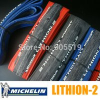 Wholesale Michelin Roads Tire - MICHELIN LITHION-2 700*23C Road Bike Folding tire Bicycle Tires Yellow Red Black Bike Tires TR017 Free Shipping About 230g