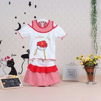 Wholesale Piece Apparel - Baby clothes girl Kids Clothing summer dress Children's dress Outfits christmas kidswear apparel fashion navy style skirt Sets newborn gifts