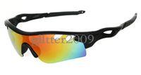 Wholesale Low Price Frames - NEW! Low Price 8 colors black frame radarlock sunglasses Summer fashion men's brand Sport Goggle Resin lenses Eyewear
