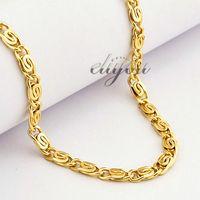 gelbe schnecke großhandel-Gelbe Rose Gold gefüllt Halskette Mens Womens Chain Snail Link Großhandel Modeschmuck Geschenk 4,5 mm LGN216