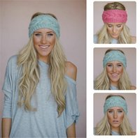 Wholesale Crochet Headbands For Sale - 300pcs hot sale 31 colors Fashion Warmer headbands for women Women's Wool Crochet Headband Knit Hair band Flower Winter D491