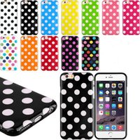 Wholesale Polka Dot 5c - For Iphone 6 6 plus 4S 5S 5C Samsung Galaxy S6 S5 S4 Note 4 Candy Polka dots Dot Colorful TPU Gel Silicone back Skin cases cover case