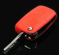 Wholesale Silicone Key Case Ford - Wholesale-Jelly candy color key bag car remote key shell case silicone key fob suitable for mass Cruze Fox New Bora Magotan Ford Buick
