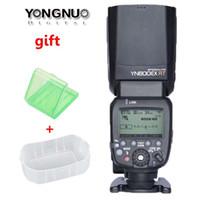 Wholesale Yongnuo Hss Flash - YONGNUO YN600EX-RT GN60 Wireless HSS 1 8000s Master Flash Speedlite Speedlight for Canon Radio Trigger System AS Canon 600EX-RT
