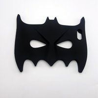 funda de silicona batman 3d iphone al por mayor-3D Cool Big Hero Batman Eyeshade Suave cubierta de silicona Chirstmas Tapas del teléfono para Iphone5 5s 6 6s 6plus 7 7plus