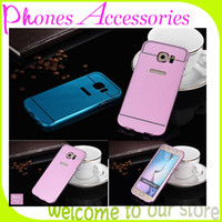 Wholesale Wholesale Guangzhou China - S6 Aluminum Bumper Case with PC Back Cover for Samsung Galaxy S6 Cases 6 Colors 20 Pieces Per Lot Made in Guangzhou China