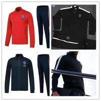 Wholesale Zipper Jr - 2017 2018 France PSG zipper tracksuit sweat jogging suit surveying training suit jacket paris NEYMAR JR MBAPPE Sportswear suit