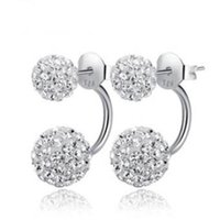 Wholesale balls for earrings for sale - ORSA JEWELS Popular Girl s Double Sided Ball Stud Earring Crystal Full Set Crystal Beads Earrings Romantic Gift for Women OE92