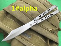 Wholesale Cm Lighting - 8 models Tachyon II III light ion bowie tanto drop alpha stonewashed 134-CM blade Free-swinging flail knife xmas gift knife 1pcs
