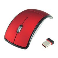Wholesale Arc Optical - Slim Mini USB 2.0 Wireless 2.4G Folding Foldable Mouse Optical Mice 1600DPI Wireless Mouse Arc Mouse for PC Laptop Desktop