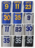 17/18 Nuovi Stati Uniti Golden State # 35 Kevin Durant 30 Stephen Curry 23 Draymond Green 11 Klay Thompson Home Jersey Warriors cuciture Jersey