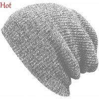 Wholesale Men Sailor Hat - 2015 Hot Winter Beanies Solid Color Hats Unisex Plain Warm Soft Beanie Skull Knitted Cap Hip-hop Hat Touca Gorro Caps Men Women SV024880