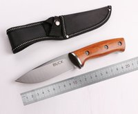 Barato Guerreiro Tático-WoWoo Buck Warrior Fixed Drop Point Sandblasting Blade Wood Handle Tactical Camping Caça Straight Knife OEM Outdoor Utility Gift Knife