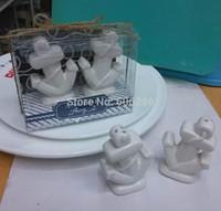 ingrosso regali di tema della spiaggia-Tema di spiaggia nuovo Souvenir di Ancore via Ceramica Sale Pepper Shakers regali di nozze 2 pezzi per 1 set scatola