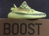 Wholesale Man Steel Cycling - Originals 350 Boost V2 Kanye West Running Shoes Zebra Zebras Semi Frozen F15 Raw Steel S18 Red Blue Tint Sneakers size 13