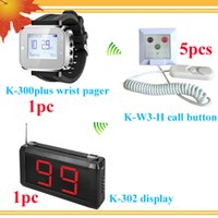 Wholesale Nursing Bell - Wireless Nurse Calling System Nurse Caller Patient Call K-W3-H call bell for patient and Display receiver and watch for doctor