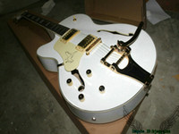 Wholesale Guitar Left Hand Cheap - White Custom Shop Falcon Left Handed Jazz Guitar Tremolo 6120 China Guitars OEM Cheap