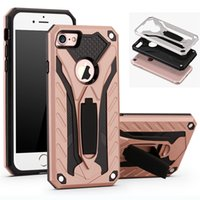 2 en 1 Defender Case Hybrid Armor Cases Funda con Kickstand para iPhone X 8 7 6 6S Plus 5 5s Sumsung S8 S7 Plus Note8 Huawei OEM