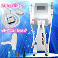 Wholesale Ipl Hot - Hot sale Multifunction SHR Nd Yag Laser machine Skin Rejuvenation Elight Hair Removal OPT SHR IPL Beauty Machine with CE