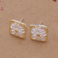 Wholesale Pc Box Manufacturers - Fashion (Jewelry Manufacturer) 40 pcs a lot Box Daisy earrings 925 sterling silver jewelry factory Fashion Shine Earrings