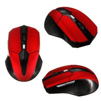 Großhandels-Best-Preis-2,4-GHz-Wireless Optical Mouse Mäuse und USB 2.0-Empfänger Rot für PC Laptop Portable Game Gaming Wireless Mouse