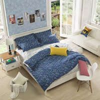Wholesale Duvet Cover Brush - Wholesale-2015 Hot Sale Top Fashion Quality Home Duvet Cover Bedding Set Personalized Brushed Denim Skin Kit Music Does Not Fade Bedding