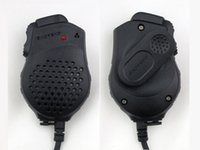 Wholesale Baofeng Radio Mic - Wholesale-2pcs Original Handheld Walkie Talkie Speaker Mic Dual PTT for Baofeng Portable CB Radio UV-82 UV-82L UV-8 UV-8D UV-89