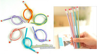 Wholesale Colorful Pencil Magic Bendy Flexible Soft Pencil With Eraser For Kids Writing