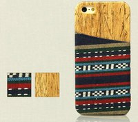 Wholesale Card Case Wood Wholesale - Newest Special Wood Ethnic Pattern Case Iphone 5 6 6plus phone Wooden Back Case Cover With Card Pocket For Iphone Samsung S5 Note3 Note4