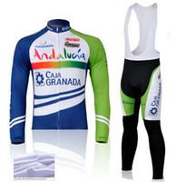 мтб одежды китай оптовых-2015 Андалусия зима тепловой флис велоспорт Джерси спортивный костюм велоспорт Джерси длинные нагрудники набор велоспорт одежда фарфора mtb горный велосипед