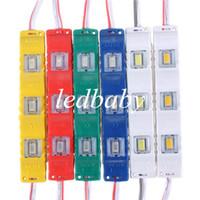 lente branca quente venda por atacado-Módulo 3 Led com lente Quadrada À Prova D 'Água 5630 SMD Novos módulos de led 1.2 W DC12V Vermelho / Verde / Azul / Amarelo / branco / branco quente