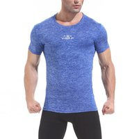 Dry Fit Uomo Fitness Shirt manica corta Sport Jersey traspirante Allenamento T Shirt Palestra Baselayer Camisetas Deporte Hombre Plus Size