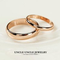 Unisex Ring Rose Gold Plated Width 5mm 2mm Classic Simples Glossy Finger Ring Atacado 18KRGP Stamp