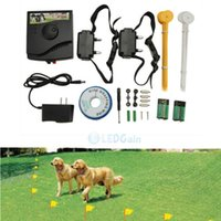 Wholesale Wholesale Dog Collars Usa - New Underground Electric Dog Fence Fencing System 2 Shock Collar Waterproof USA