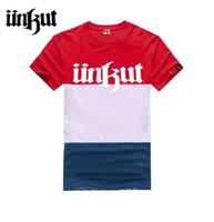 Wholesale Geek Tee Shirts - Hip hop unkut t shirt men short tee Similar with other brands mma swag Tops & Tees dgk nk geek hiphop Music rock men tee shirts