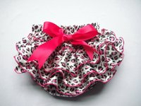 Wholesale Summer Nappy - Wholesale-Retail Dot Zebra Leopard Cotton Girl Baby Ruffle Pants Bloomers Nappy Cover Skirt Clothes Dress Summer Pants