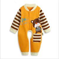 Wholesale Open File Leotard - Wholesale-2015 Autumn New Long-Sleeved Romper Leotard Baby Siamese Romper Baby Jumpsuit Open File TBR9006