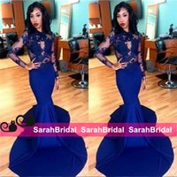Wholesale Silver Formal Dresses For Sale - New Design Arabic Dubai Mermaid Prom Dresses 2016 Sexy See Through Sheer Women Formal Evening Wear Full Floor Length for Pageant Gowns Sale