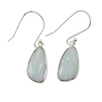 Wholesale Silver Earring Pure - 925 Sterling Silver Elegant Women's earrings E239 pure handmade jewelry factory provide 5 colors opal earrings with free shipment